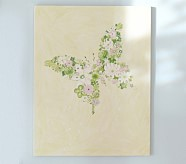 Butterfly Flower Plaque, Green