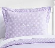 Mini Dot Sham, Standard, Lavender