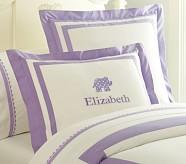 Elephant Applique Standard Sham, Lavender