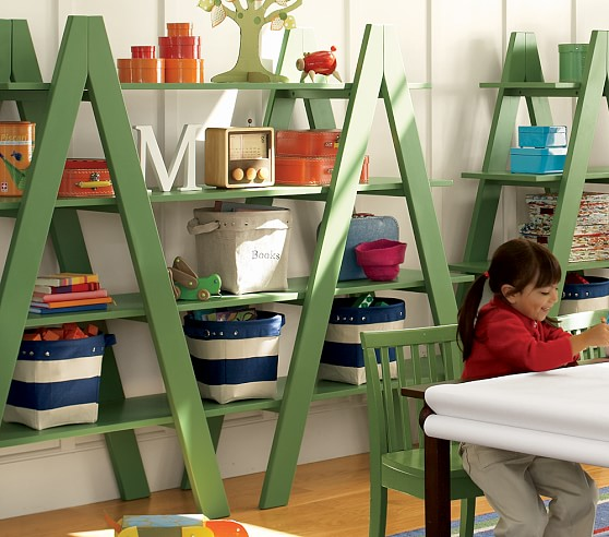 Montgomery Bookcase 4 Shelf, Single A, Green