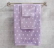Polka Dot Wash Cloth, Lavender