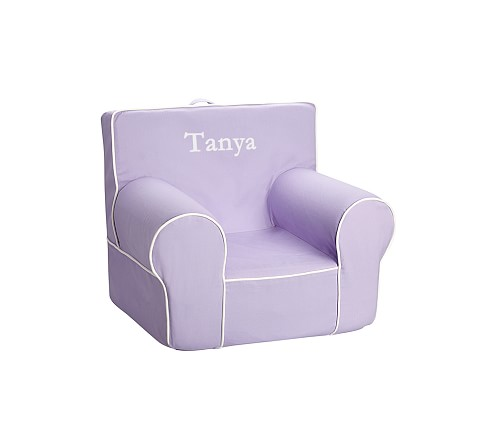 Lavender with White Piping Anywhere Chair Slipcover Only