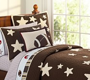 Star Quilt, Twin, Chocolate