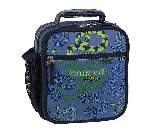 Mackenzie Blue Snake Classic Lunch Bag