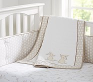 Reagan Nursery Bumper Bedding Set: Crib Fitted Sheet, Crib Bumper & Crib Skirt