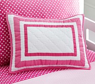Organic Harper Decorative Sham, Bright Pink