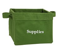 Canvas Storage, Medium, Green Square