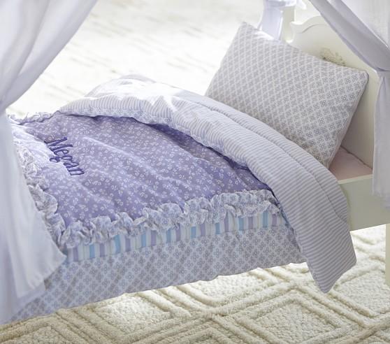 Doll Lavender Floral Bedding