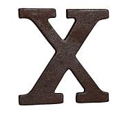 Faux Bronze Letter, X