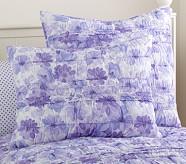 Lillian Floral Standard Quilted Sham, Lavender