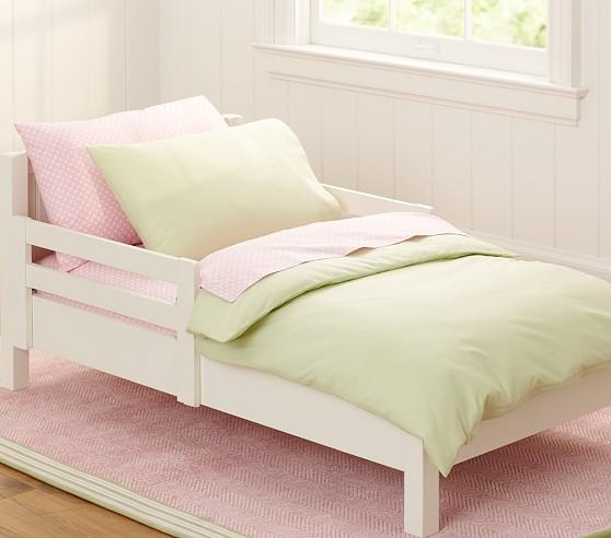Organic Cotton Toddler Duvet Cover, Green