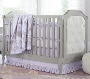 Evelyn Nursery Quilt Bedding Set: Toddler Quilt, Crib Skirt & Crib Fitted Sheet, Lavender