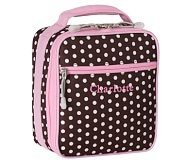 Mackenzie Classic Lunch Bag, Pink/Chocolate Dot