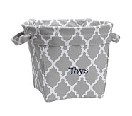 Printed Medium Canvas Storage , Gray