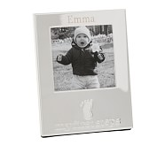 "Silver Milestones Frame - ""My First Steps"""