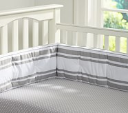 Harper Nursery Bedding Set, Gray