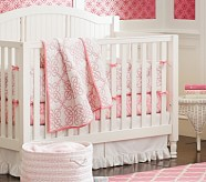 Hannah Nursery Quilt Bedding Set: Toddler Quilt, Crib Skirt & Crib Fitted Sheet