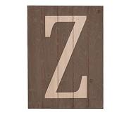 Wood Planked Letter, Z