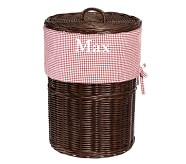 Red Gingham Sabrina Hamper Liner
