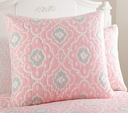 Claire Euro Quilted Sham, Pink