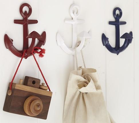 Anchor Hook, White