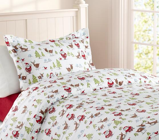 Winter Wonderland Flannel Duvet Cover, Full/Queen ...