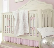 Veronica Nursery Quilt Bedding Set: Crib Fitted Sheet, Toddler Quilt & Crib Skirt, Pink