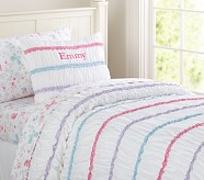 Emmy Ruffle Duvet Cover, Twin