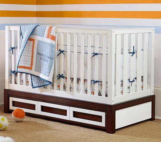 Sheldon Nursery Bumper Bedding Set: Crib Skirt, Crib Fitted Sheet & Bumper
