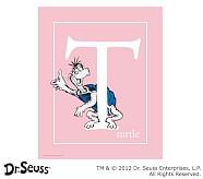 Dr. Seuss™ Alphabet Prints, Letter T, Pink, Turtle