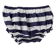 Navy Rugby Diaper Cover, 3-6 Months