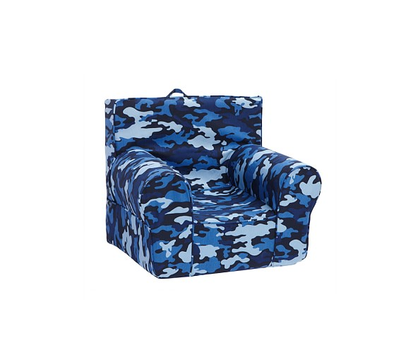 Navy Camo Anywhere Chair Slipcover