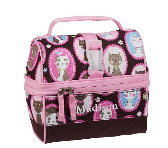 Mackenzie Chocolate Kitty Retro Lunch Bag