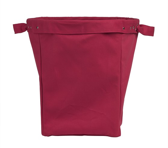 Large Canvas Bucket, Red