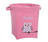 Magenta Owl Applique Tote, Large