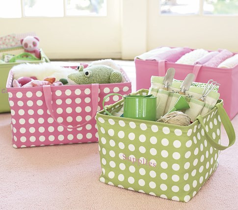 Square Solid Canvas Storage, Pink