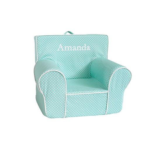Aqua Mini Dot Anywhere Chair Slipcover Only