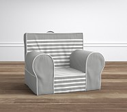 Breton Stripe Gray Anywhere Chair®