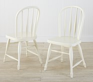 Farmhouse Chairs, Set of 2, Simply White