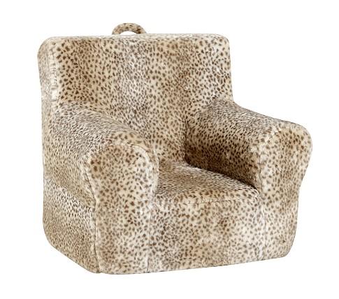 Anywhere Chair Slipcover, Tan Snow Leopard