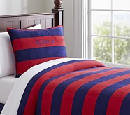 Rugby Chamois Duvet Cover, Twin