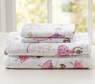 Tiny Dancer Flannel Sheet Set, Twin