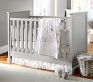 Cora Nursery Quilt Bedding Set: Toddler Quilt, Crib Skirt & Crib Fitted Sheet