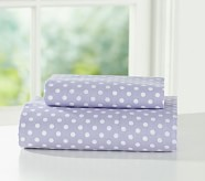 Mini Dot Toddler Sheet Set, Light Lavender