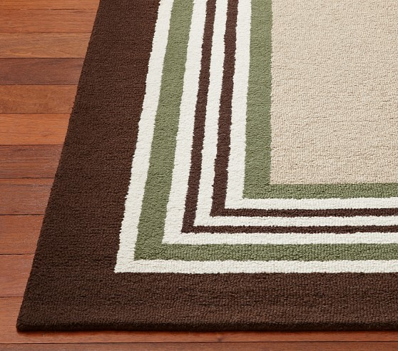 Tailored Striped Rug 8 x 10' Green/Brown