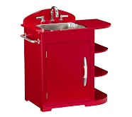 Retro Kitchen Sink, Red