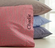 Gingham Standard Pillowcase, Gray