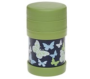 Girls' Hot-Cold Food Container, Navy Butterfly