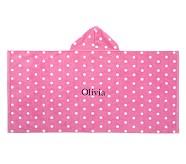 Dot Bath Wrap, Bright Pink
