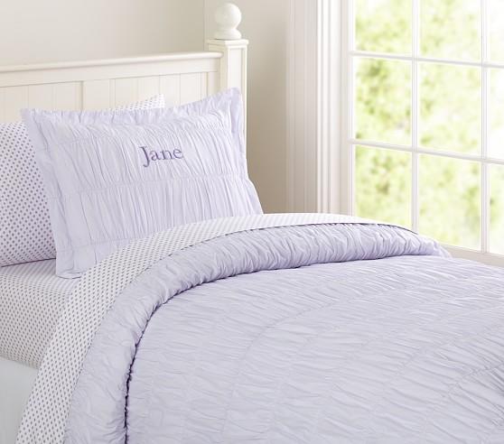 Jacqueline Duvet Cover, Lavender, Twin